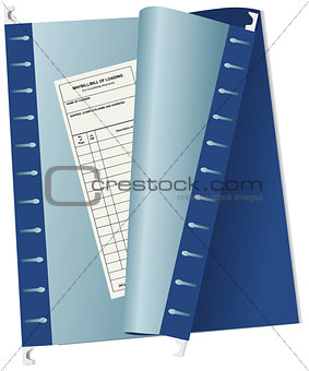 Accounting waybill archive file