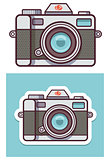 Vector photo camera icon