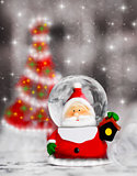 Snow globe Santa Claus, Christmas tree decoration