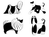Original art dog silhouettes
