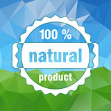 white vector 100 % natural product stamp