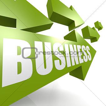 Business arrow green