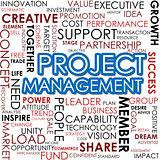 Project management word cloud