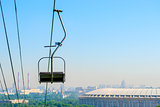 funicular on the Sparrow Hills in Moscow