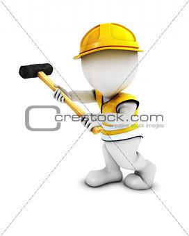 3D Morph Man Builder with sledgehammer