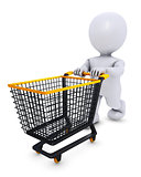 Morph Man with shopping cart