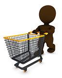 Morph Man with shopping cart