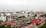 General view of Bangkok from Golden mount, Thailand
