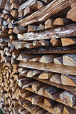 stack of dry wood