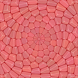 Multicolor circular mosaic of stone
