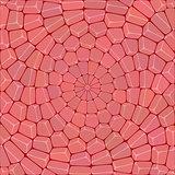 Multicolor circular mosaic of stone