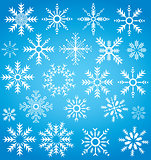 winter snowflake collection symbol