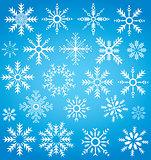 winter snowflake collection symbol