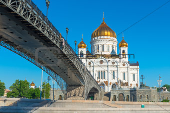 Bridge over the Moscow river and church
