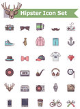 Hipster icon set