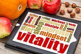 vitality concept on digital tablet