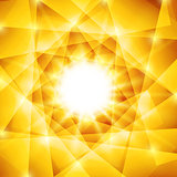 Abstract geometric background with yellow triangles and burst