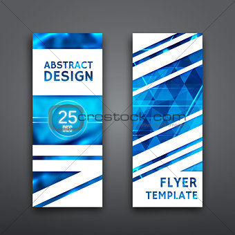 Abstract Geometric Vector Brochure Template. Flyer Layout.