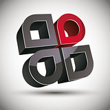 3d abstract icon with 4 elements.