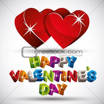 Valentine card, vector.