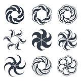 Infinite loop arrows vector abstract symbol, single color graphi