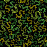 Dollar seamless background, economy and money theme vector seaml