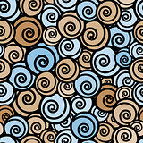Stylish curls seamless pattern.