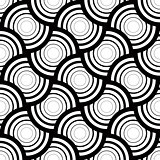 Seamless geometric pattern, simple vector black and white stripe