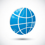 Earth planet icon , abstract icon, 3d vector symbol