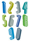 3d extra tall numbers set made with round shapes.