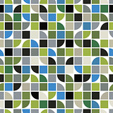 Bright geometric vector background, squared abstract seamless pa
