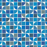 Vector colorful geometric background, water wave theme abstract