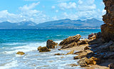 Summer beach view (Greece, Lefkada).