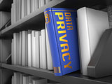 Data Privacy - Title of Blue Book.