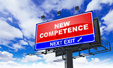 New Competence on Red Billboard.