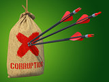 Corruption - Arrows Hit in Red Mark Target.