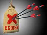 Egoism - Arrows Hit in Red Mark Target.
