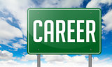 Career on Green Highway Signpost.