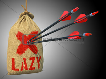 Lazy - Arrows Hit in Red Mark Target.