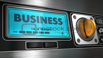 Business on Display of Vending Machine.