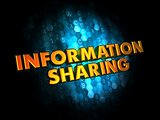 Information Sharing - Gold 3D Words.