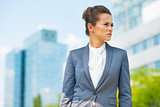 Portrait of business woman in office district