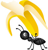 Ant Carrying a Banana