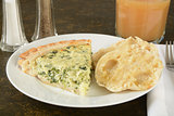 Quiche with English Muffin