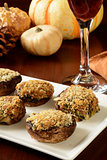 Gourmet stuffed mushrooms