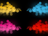 Abstract colorful bokeh circles