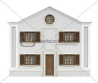 Classic house isolated on white
