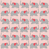 Cartoon elephants background