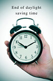 end of daylight saving time