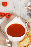 Tomato soup background.